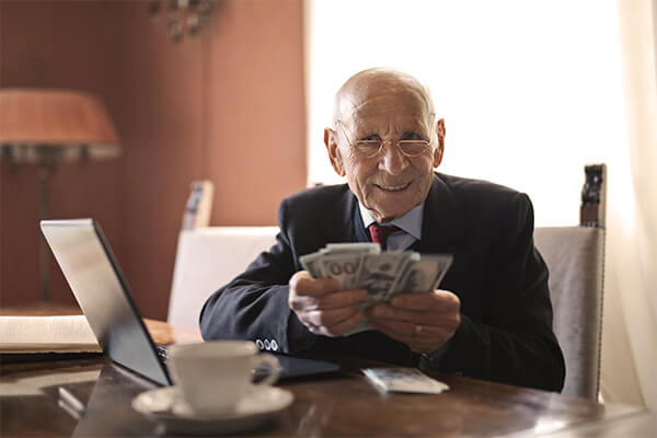 Good-old-money-saver-happy-about-opening-a-retirement-account in his young ages