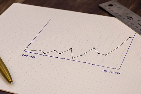 Graph representing tracking progress of a financial goal - one of the core money-saving tips