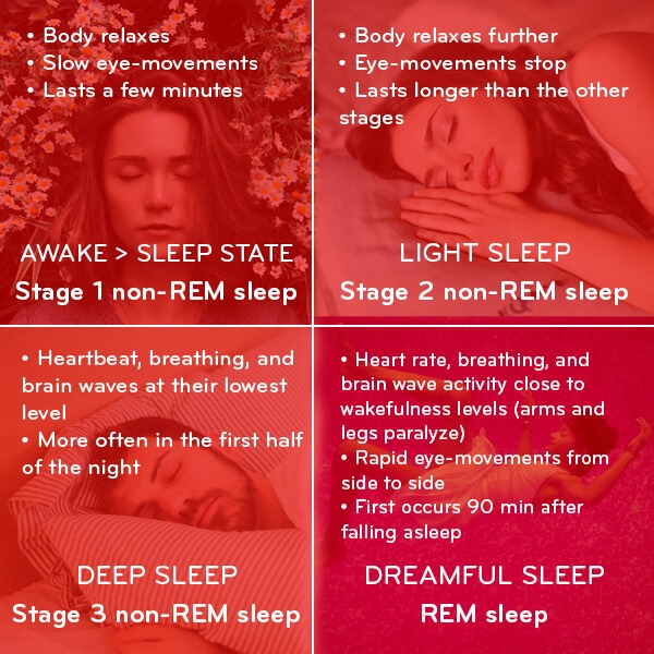 The 4 stages people have to go through to dream