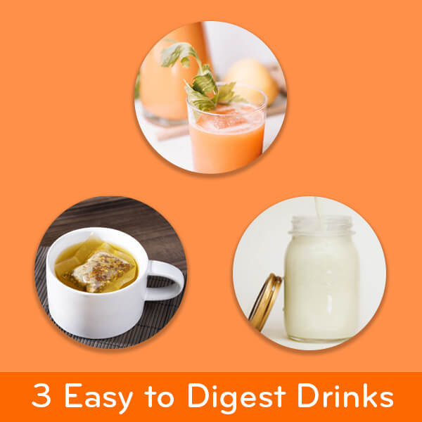 3 easy to digest drinks for your stomach