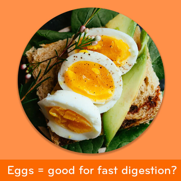 Foods for good digestion: boiled eggs
