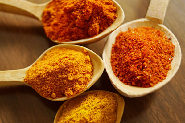 Easy to digest foods for treating an upset stomach: ground spices