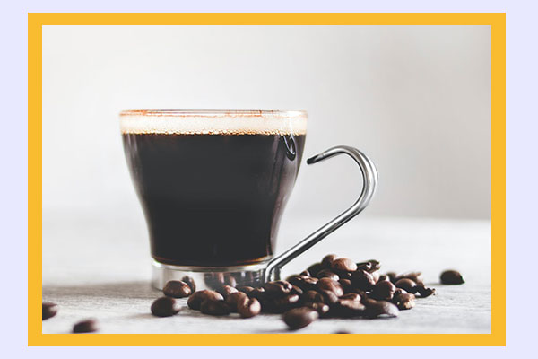 Cup of coffee - low-calorie drinks for weight loss