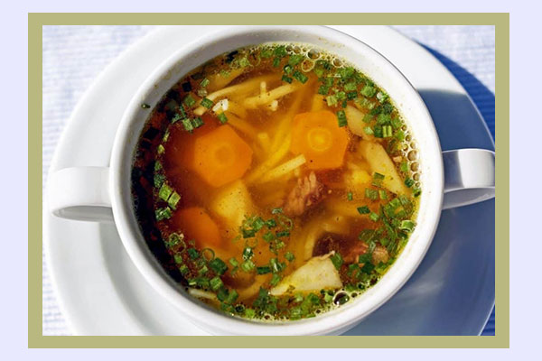 Vegetable soup - filling high-volume foods with low calorie density for easy weight loss
