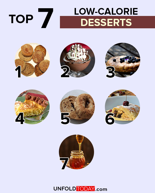 Top seven desserts and sweets with the lowest number of calories for easy weight loss