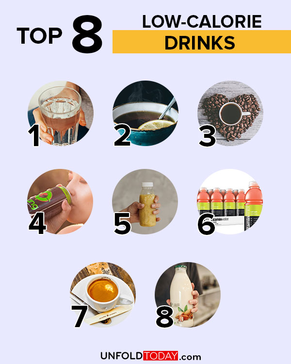 Top eight drinks with the lowest number of calories for easy weight loss