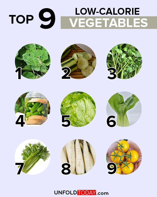 Top 9 low-calorie vegetables for easy weight loss