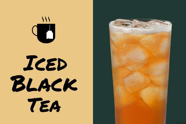Healthy low-calorie Starbucks drinks: Iced Black Tea