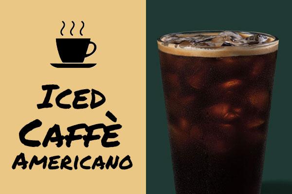 Sugar-free drinks: Iced Caffe Americano