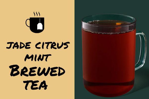 Sugar-free drinks: Jade Citrus Mint Brewed Tea