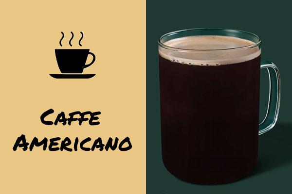 Healthy low-calorie Starbucks drinks: Caffe Americano