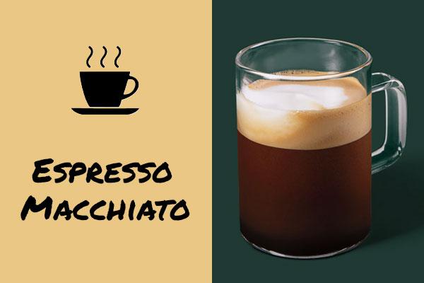 Healthy sugar-free Starbucks drinks: Espresso Macchiato