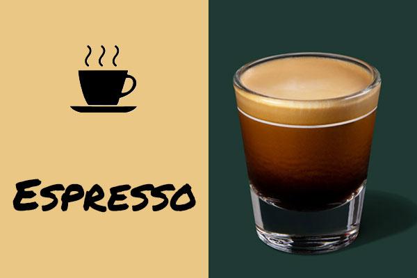 Healthy low-calorie Starbucks drinks: Espresso