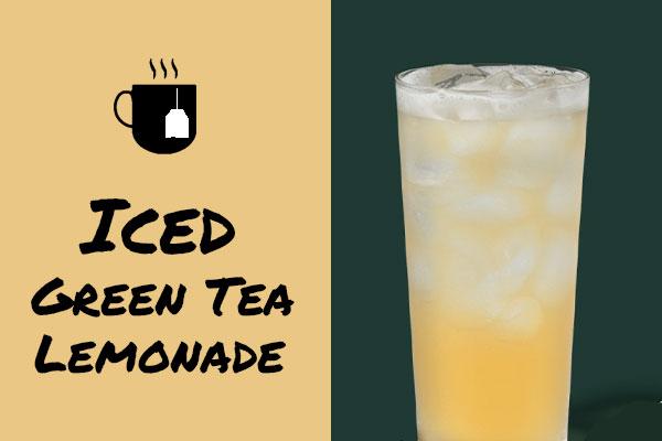 Healthy low-calorie Starbucks drinks: Iced Green Tea Lemonade