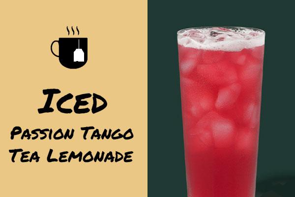 Low-calorie drinks: Iced Passion Tango Tea Lemonade