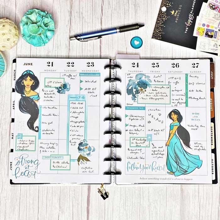 Princess-themed spread template