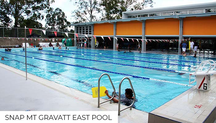 Outdoor pool at a Snap Fitness gym located at Mt Gravatt East..