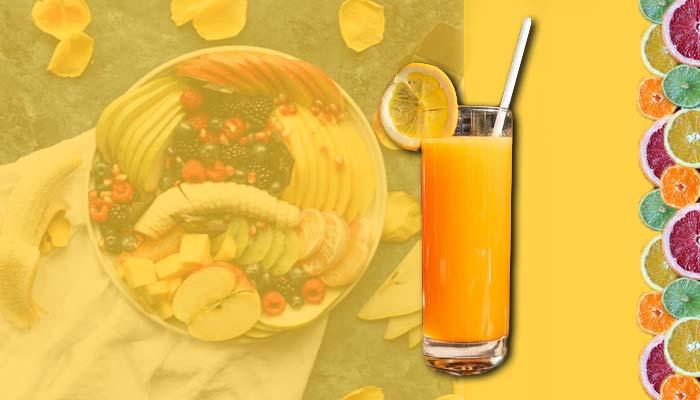 Fruit juice, high-carb drink.