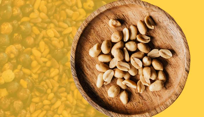 Peanuts, a high-calorie snack that is rich in fats.