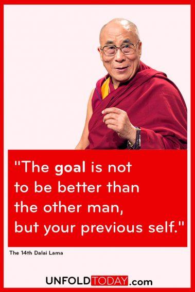 The Dalai Lama Fitness Goals Motivation Quote