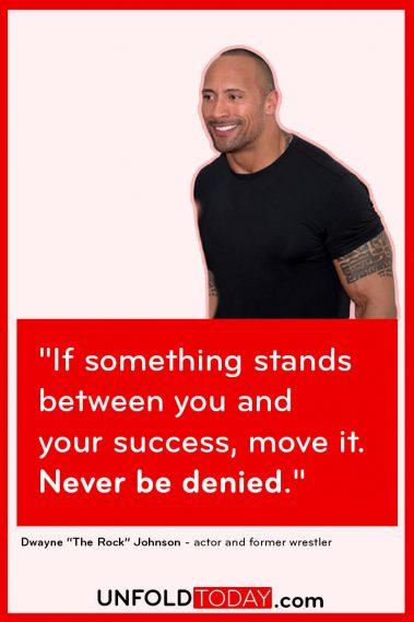 "Dwayne ""The Rock"" Johnson Fitness Goals Motivation Quote"